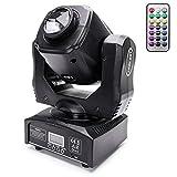UKing 60W Moving Head LED DMX512 Disco Lichteffekt mit Funktionell Fernbedienung Partylicht 8 Muster...