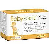 BabyFORTE Folsäure + Omega-3 – Vitamine Schwangerschaft & Stillzeit - 60 Kapseln – hoch reines...