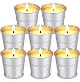 Citronella Kerzen, Natürliches Sojawachs Citronella Duftlichter Zitrone Teelichter Outdoor Indoor...