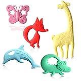 Beißring Zahnungshilfe für Baby, Beissring für Kleinkind zum Kühlend Zahnen Spielzeug aus...