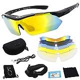 Miriqi Polarisierte Sportbrille, Fahrradbrille, Sportliche Sonnenbrille UV400 Schutz für Herren &...