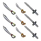 Yojoloin 9 Pcs Aufblasbare Piraten Schwert Stick Ballons Für Party Supplies Halloween Thema Party...