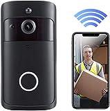 YOUYE Video Türklingel, Klingel-Kamera-HD 720P WiFi Wireless-Türklingel mit Türklingel läutet...