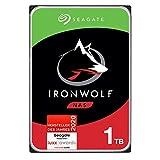Seagate IronWolf, NAS interne Festplatte 1 TB HDD, 3,5 Zoll, 5900 U/Min, CMR, 64 MB Cache, SATA 6...