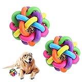 Corkcrd Dog Chew Toy Interactive Durable Bunte gesponnene Kugel Glocke Stimmbildung Bewegung...