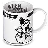 Kaffee-, Tee- und Milchbecher für Radsport- und Triathlon-Fans – Schöne Keramiktasse mit einem...