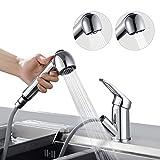 BONADE Wasserhahn Armatur mit ausziehbarer Brause Küchenarmatur 360° Schwenkbereich...