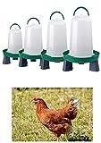 Zoo-Papp Hühnertränke(!!!!) in verschiedenen Größen grün und rot I Geflügeltränke für...