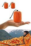 Premium Rettungsdecke Rettungsfolie Notfalldecke Notfall-Zelt Biwaksack Survival Schlafsack für...