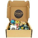 Genussleben saure Süßigkeiten Geschenkbox mit Trolli Glotzer, Trolli Planet Gummi, Trolli Burger,...