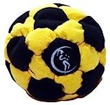 Pro Hacky Sack 32 Paneelen (Schwarz/Gelb) Profi Freestyle Footbag! Hacky Sack fr Anfnger und Profis,...