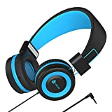 Kopfhörer Kinder - Kabel Kopfhörer für Kinder, verstellbares Stirnband, Stereo Sound, Faltbare,...
