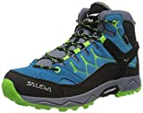 Salewa JR Alp Trainer Mid Gore-TEX Trekking-& Wanderstiefel, Blue Danube/Fluo Green, 34 EU