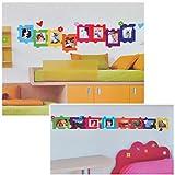 alles-meine.de GmbH XL Wandsticker / Sticker - Fotorahmen als Puzzle für Foto´s - Herzen Blumen...