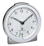 TFA Dostmann Analoger Funk-Wecker, Kunststoff, Silber, (L) 81 x (B) 31 x (H) 84mm