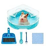 Hamster Ecktoilette mit Dach, Kunststoff Hamster Sandbad Hamster Klo Hamster Badezimmer Badewanne...