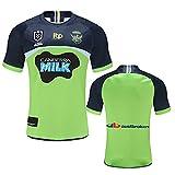 YAQA Herren Rugby Jersey Raiders 2020-2021Home/Away Atmungsaktives Rugby T-Shirt, Kurzarm...