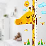Baby Messlatte Hhe Diagramm fr Kinderziemmer Dekoration, 3D beweglicher Giraffenkopf Hhenmesser...
