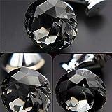 DRHYSFSA Türschnalle Set / 10 Stücke 25mm Kristall Cut Griffe Knöpfe Zieht Geometrische Rhombic...