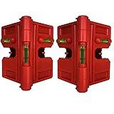 Zusammenklappbare magnetische Pfostenwaage für Rohr, Pfosten und Balken, 2 Stück