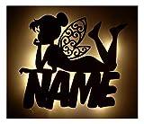 Schlummerlicht24 3d Led Deko Lampen Nachtlicht Fee Feen Schutz-Engel Geschenke mit Namen als...