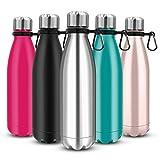 Govvay Trinkflasche Edelstahl Thermosflasche, ohne leckage - Edelstahl ohne BPA - Wiederverwendbare...