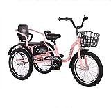 Kinder Dreirad Fahrrad Kinderwagen mit Sitz 3 Räder Kinder Fahrrad doppelt aufblasbare Räder 2-9...