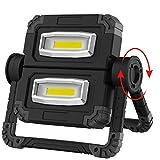 RUNACC Faltbares LED Arbeitsleuchte Baustrahler Arbeitslicht Arbeitsscheinwerfer Wiederaufladbares...