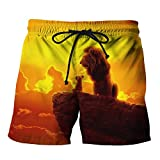 The Lion King Freizeitrucksack Shorts Wild Style Rugby Shorts bequemer Strand Shorts lose Jogger...