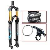 AIFCX 26' Mountainbike-Federgabel, 1-1/8' leichte Magnesiumlegierung MTB Bike Gas Gabel Schulter...