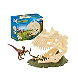 Schleich 42348 Dinosaurs Spielset - Große Schädelfalle mit Velociraptor, Spielzeug ab 5 Jahren