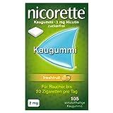 NICORETTE Kaugummi 2mg freshfruit – Nikotinkaugummi zur Raucherentwöhnung – Fruchtgeschmack...
