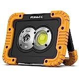 RUNACC LED Baustrahler Akku Led Arbeitsleuchte 4400mAh Wiederaufladbares Camping Licht Tragbares USB...