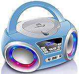 Tragbarer CD-Player   Boombox   CD/CD-R   USB   FM Radio   AUX-In   Kopfhöreranschluss   CD Player...