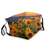 Sunflower Field Adjustable Mouth Guard with Washable Machine Washable Reusable Cover