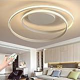 LED Dimmbar Deckenleuchte Moderne Deckenleuchte mit Fernbedienung Wohnzimmer Lampe Chic Oval...