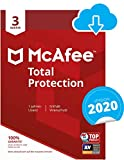 McAfee Total Protection 2020 | 3 Gerte | 1 Jahr | PC/Mac/Smartphone/Tablet | Download Code