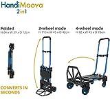 HandiMoova 2in1 Klapp-Trolley, verwandelt in Sekundenschnelle von 135 kg auf Rdern auf 70 kg...