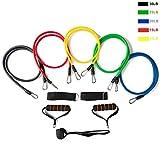 QWERBAM 17pcs / Set Latex-Widerstand-Bnder Gym Tr-Anker Knchelriemen Mit Tasche Kit Set Yoga-bung...