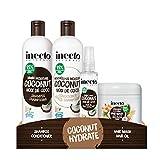 Inecto Shampoo, Conditioner, Haaröl und Masken-Set, angereichert mit natürlichem Kokosöl, um...