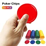 SYXX 200 Stück von bunten Kunststoff Poker Chips, No Face Value Mahjong Chips, Nein...