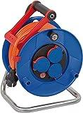 Brennenstuhl Garant IP44 Kabeltrommel (25m Kabel in orange, Spezialkunststoff, Einsatz im...