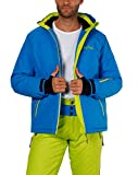 Fifty Five Skijacke Herren Blau Grün M Jamie Snowboardjacke Wasserdicht Atmungsaktiv