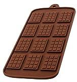 BlueFox Silikonform mit 12 Schokotafeln, Schokoladenform, Eiswürfelform, Pralinenform, Praline,...