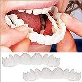 FGDSA Kosmetische gefälschte Zahnaufhellung Obere untere Zahnspange Lächeln Komfort Passform...