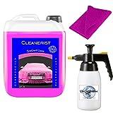 Cleanerist 5 Liter Snowfoam PINK I inkl. Schaumdruckpistole & Microfasertuch I Konzentrat  ...