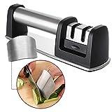 flintronic Manueller Messerschärfer, 3-stufig Messerschärfer Hilft Reparatur für Messer und...