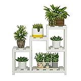 KEWEI Blumenständer, Pflanzenständer, Massivholz, für Erkerfenster, Fensterbank, Fleshy, kleines...