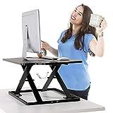 PUTORSEN® Höhenverstellbar Sitz-Steh-Schreibtisch Computertisch - Schreibtischaufsatz...