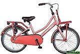 Mädchenrad Transportfahrrad Stein Rot 20 Zoll